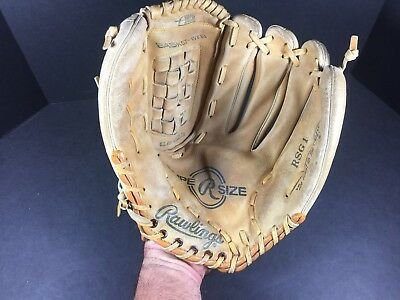"VINTAGE Rawlings RSG 1 SUPER SIZE Rt Handed 13"" Leather Baseball Softball Glove!"