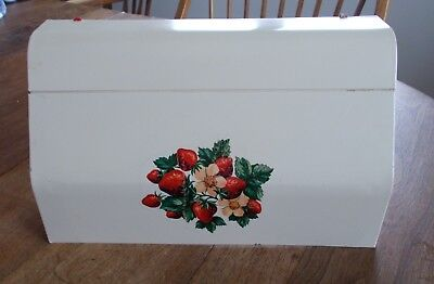 Vintage Metal Almond and Red Strawberry Paper or Foil Wall Dispenser