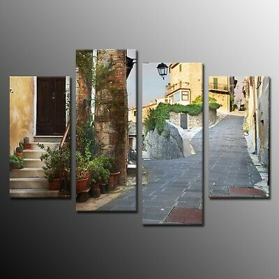 Modern Canvas Print Home Decor Quiet alley Picture Wall Art Painting 4 Pieces