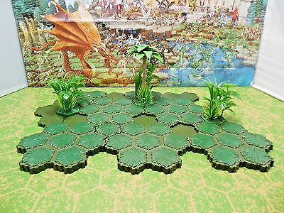 Heroscape 53-hex Ticalla Jungle and Swamp Add-On with 14 or 15 Height Palm Tree