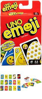 UNO Emoji Card Game Playing Cards Game For Family Friend Travel Instruction Fun