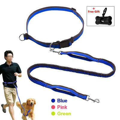 Hands Free Dog Leash Bungee Elastic Extend Waist Running Leash &Gift for Walking