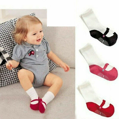Newborn Infant Toddler Sock Boy Girl Elasticity Soft Cotton Socks Black Pink Red