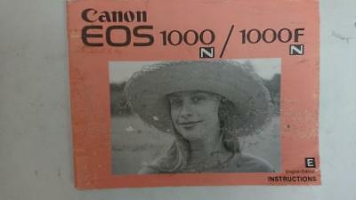Canon EOS 1000 / 1000F  SLR Camera Owners Instruction Manual