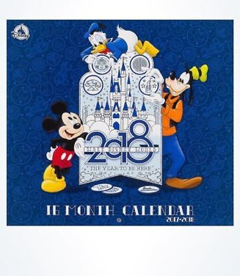 Disney Parks 16 Month DISNEY World WALL CALENDAR Sept. 2017- 2018