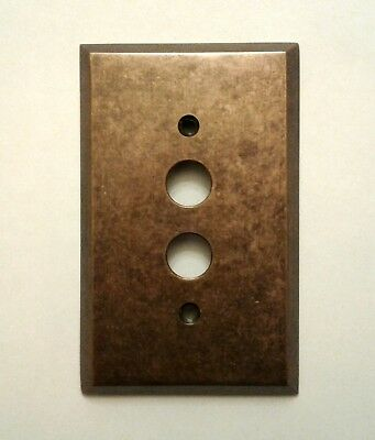 New  1 - Gang  Push  Button  Traditional  Forged  Brass  Switch  Plate  W/screws