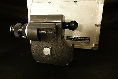 Canon Scoopic 16 Motorized 16mm Film Camera with Case and Charger - TESTED