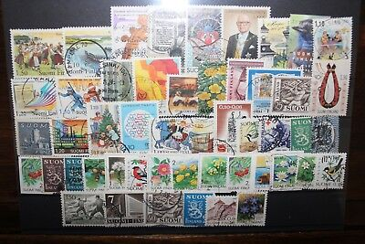 Francobolli Finlandia Finland 50 Different Stamps Used Lot (Cat.5)