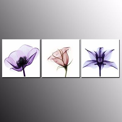 Modern Abstract Painting Poster Canvas Print Wall Art Home Decor Flower 3pcs