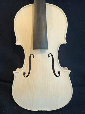 Unfinished White Violin Project, European Tonewood, Hand Made, 4/4 Full Size