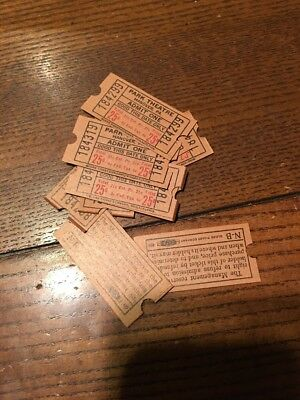 (10) New Old Stock Hanover Pa Park Theater Movie Tickets- 1950s