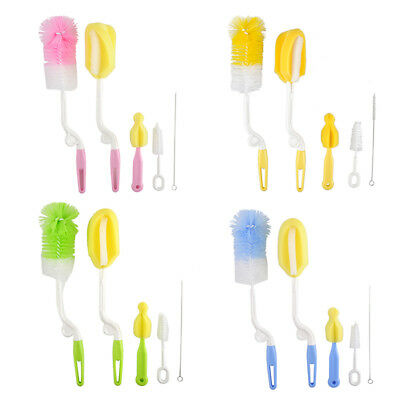 5 in 1 Baby Bottle Cleaning Brushes Cleaner Set for Cups Pacifier Nipple Straws