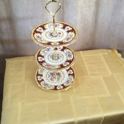 A Royal Albert Lady Hamilton 3 Tier Cake/Sandwich Stand. Medium Size.