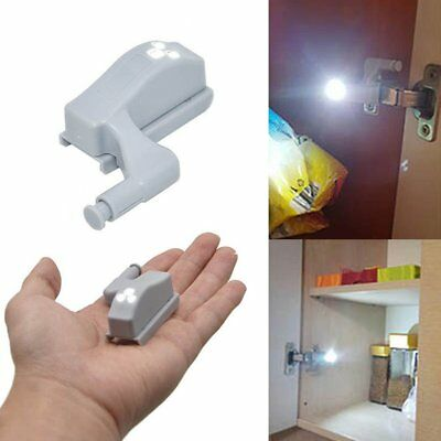 1Pcs LED Sensor Light Kitchen Cabinet Hinge Cupboard Closet Wardrobe Lights