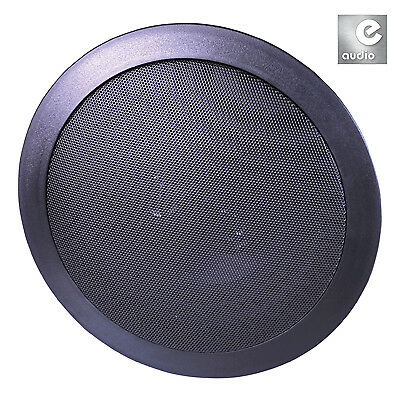 e-audio 2-Way Round Ceiling Speakers With Twin Offset Tweeters (Size 6.5 inch Pe