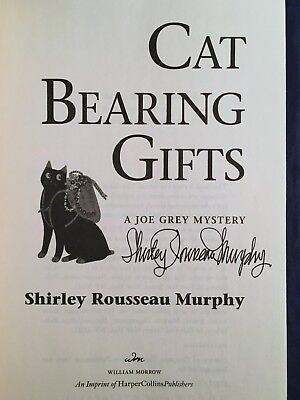 SIGNED FIRST EDITION Cat Bearing Gifts by Shirley Rousseau : A Joe Grey Mystery