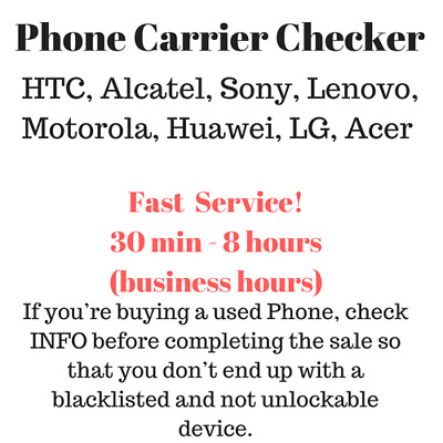 Carrier Checker for HTC, Alcatel, Sony, Lenovo, Motorola, Huawei