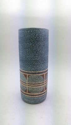 Nice Cylindrical Troika Pottery Vase Abstract Design Cornwall England