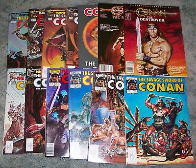 Conan The Barbarian Magazine Lot~Marvel Super Special~Graphic Novel~Savage Sword