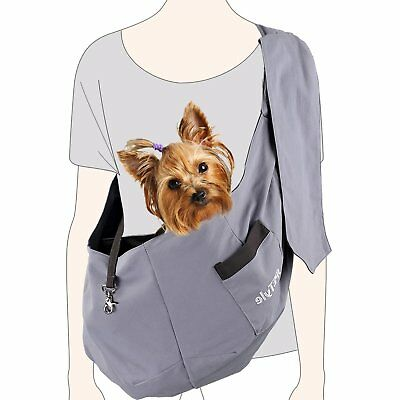 sPETyle Hands Free Reversible Pet Bag Sling Carrier with Adjustable Strap