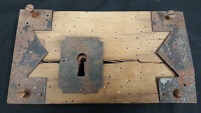 Authentic Late 1700's Early 1800's Wood Rim Lock