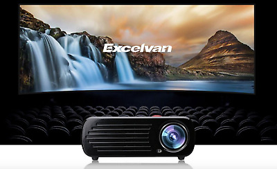 LED HD 1080p Projector Multi-media LCD 3d Home Cinema Theater 2600 Lumens (Y210)