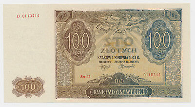 Poland 100 Zlotych  Generalgouvernement  Polen 1941 Ro. 583 / P 103 ( 166