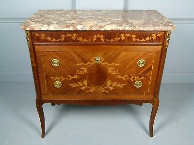 Elegant French Marquetry Kingwood Commode / Chest Of Drawers