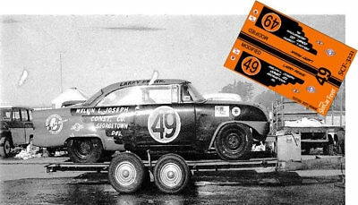 CD_3221 #49 Larry Frank 1955 Ford   1:32 Scale Decals   ~NEW~