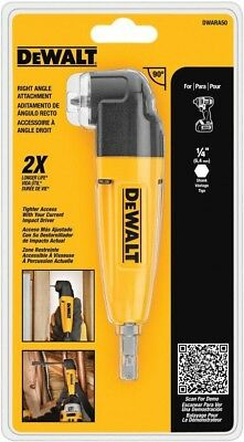 RIGHT ANGLE DRILL ADAPTER Dewalt Lightweight Corner Tight Space Drill Attachment