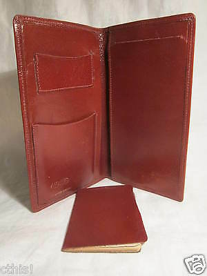 Vintage MC Yale Top Grain Cowhide Brown Leather ID Card Bill Holder Address Book