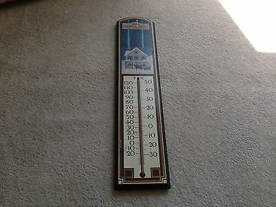Vintage Halls Country Collection Thermometer of Fine Winter Merchandise