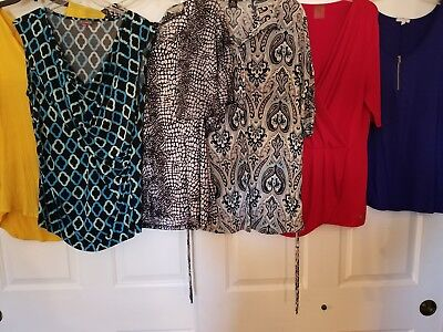 Lot of 5 Womens tops blouses size XL