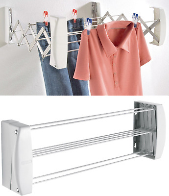Leifheit Wall Mounted Dryer Teleclip Extendable Indoor Outdoor Clothes Airer New