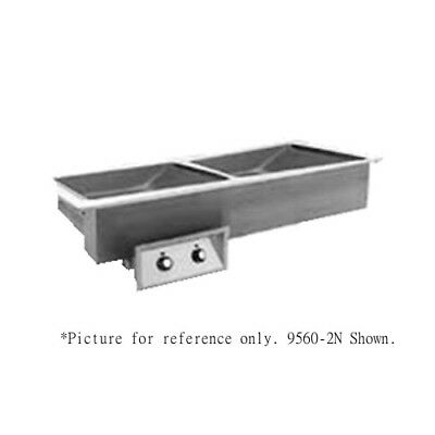Randell 95602-208Z Electric Drop-In Hot Food Well with Two Food Wells - 208 Volt