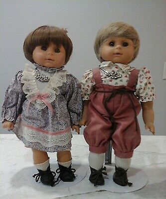 "GOTZ Puppenmanufaktur Dolls- NIB VERY RARE PAIR 15""  MODELL WEICHBABY GERMANY"