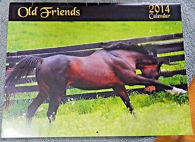 Old Friends Horse Calendar 2014~Thoroughbred Racing~Bull In The Heather, etc
