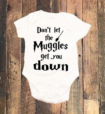Dont Let The Muggles Get You Down Newborn Baby Harry Potter Bodysuit Baby Shower