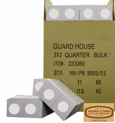 5000 2X2 QUARTER COIN HOLDER MYLAR FLIPS - UP TO 24.3mm,HIGH QUALITY -#2823360