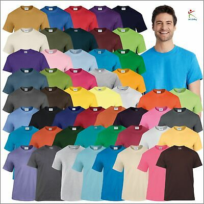 Gildan Heavy Cotton Adult T-Shirt Classic Fit Jersey Soft Plain Casual T S - 5XL