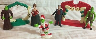 """""""bundle"""" The Grinch Who Stole Christmas; 5 Figures & 2 Display Pieces!!! A1+++++"""