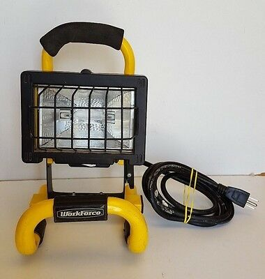 WORKFORCE Single Halogen Portable Outdoor Work Light 250 Watts Free Shipping