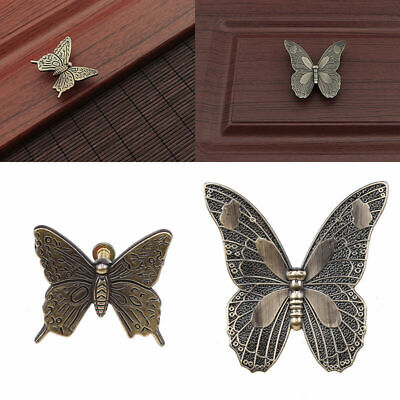 Retro Butterfly Pull Knob Cupboard Cabinet Door Knobs Home Decor Pull Handles