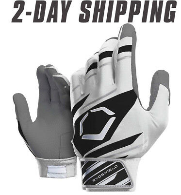EvoShield Speed Stripe Adult SPEED STRIPE GEL TO SHELL Batting Gloves WH/BLK/GRY