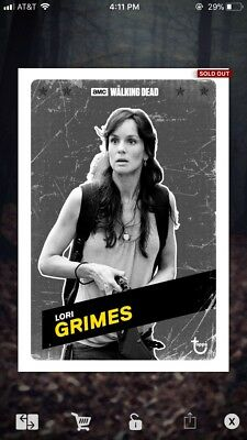 Topps The Walking Dead Card Trader Lori Grimes Charcoal Challenger 20CC