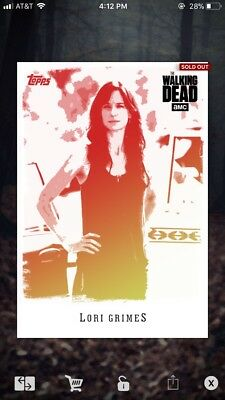 Topps The Walking Dead Card Trader Lori Grimes Red/Yellow Illustrated 25CC