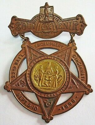 1898 Civil War Grand Army Of The Republic Encampment Souvenir Cincinnati Medal