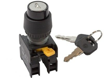 KRS-223 ATI 22mm KEY Selector Switch Spring Return Momentary 2NO 3 Positions