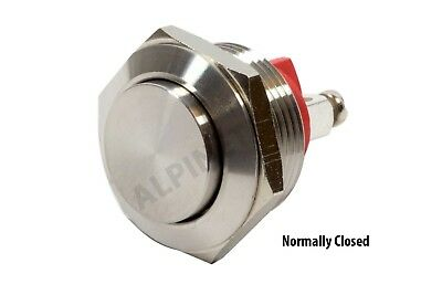 M19ENC ATI 19mm Normally Closed Momentary Stainless Steel Push Button Switch 1NC