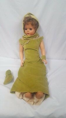 """Vintage 27"""" Rubber Eyes Open & Close Doll"""